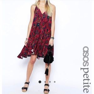 NWOT ASOS printed paisley halter dress
